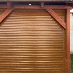 aranytölgy redőnyszerkezetes garázskapu